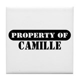 Property of Camille Tile Coaster