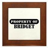 Property of Bridget Framed Tile