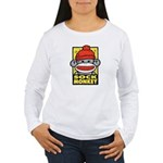 Sock Monkey Women's Long Sleeve T-Shirt