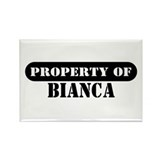 Property of Bianca Rectangle Magnet (10 pack)