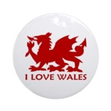 ...I Love Wales... Ornament (Round)