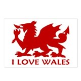 ...I Love Wales... Postcards (Package of 8)