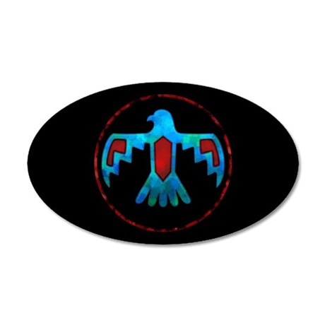 Red and Blue Thunderbird 20x12 Oval Wall Decal