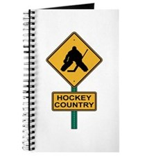 Hockey Country Road Sign Journal