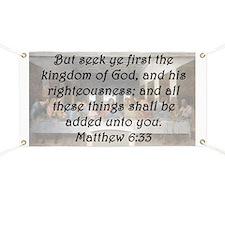 Matthew 6:33 Banner