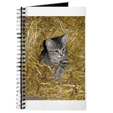 Kitten In Hay Journal