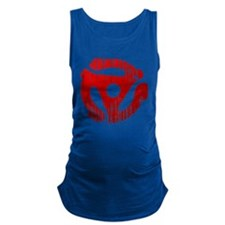 Distressed Red 45 RPM Adap Dark Maternity Tank Top