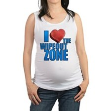I Heart the Wipeout Zone Maternity Tank Top