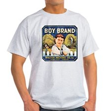 Fruit Crate Label Vintage Ash Grey T-Shirt