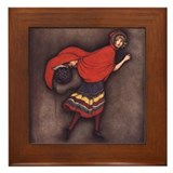 Harbour's Red Riding Hood Framed Tile