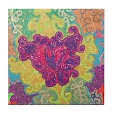 Lakshmi's Mendhi Tile Coaster