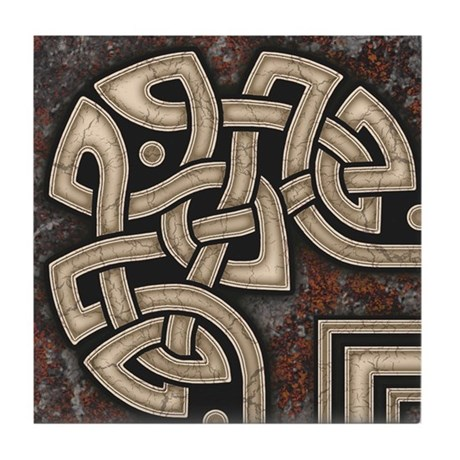 Celtic Border B Tile Grey, Corner Section