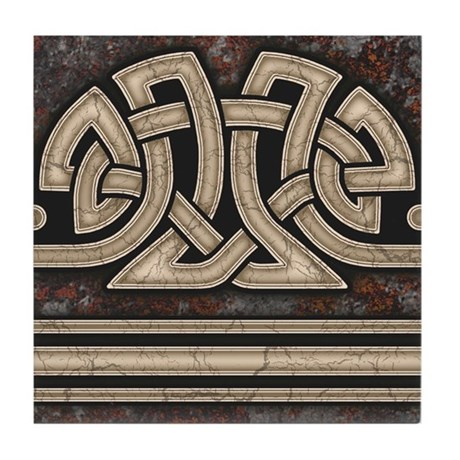 Celtic Border B Tile Grey, Straight Section