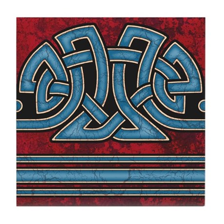 Celtic Border B Tile Blue, Straight Section