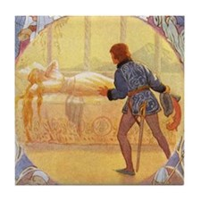 Tarrant's Sleeping Beauty Tile Coaster