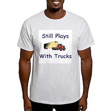 Truck Driver Ash Grey T-Shirt