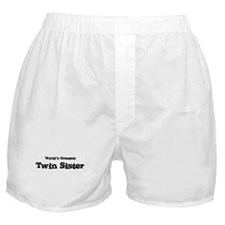 World's Greatest: Twin Sister Boxer Shorts