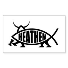 Heathen Fish Rectangle Bumper Stickers