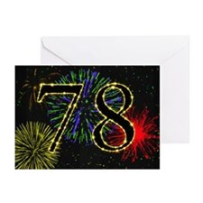 78th birthday party fireworks Greeting Cards (Pk o