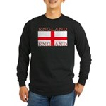 England St George Flag Sleeved Black T-Shirt