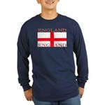 English St George Flag Long Sleeve Blue T-Shirt