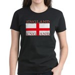 England English St George Flag Womens Black Shirt