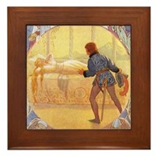 Tarrant's Sleeping Beauty Framed Tile