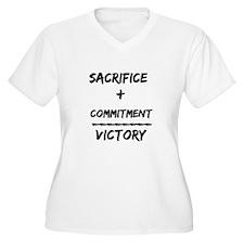 Sacrifice + Commitment = Victory Plus Size T-Shirt