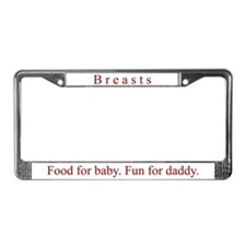 """Breasts"" License Plate Frame"