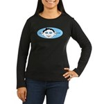 Blue In One Ear Women's Long Sleeve Dark T-Shirt