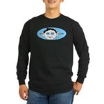 Blue In One Ear Long Sleeve Dark T-Shirt