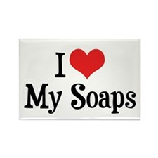 I Love My Soaps Rectangle Magnet (10 pack)