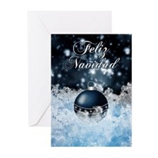 Spanish Language Stylish Christmas Card (Pk of 10)