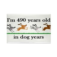 70 dog years birthday 2 Rectangle Magnet (100 pack