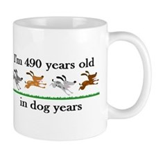 70 dog years birthday 2 Small Mugs