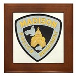 Madison Police Framed Tile