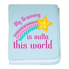 Grammy is Outta This World baby blanket