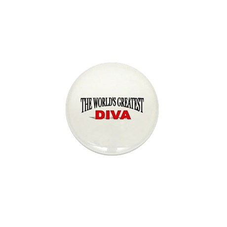 """The World's Greatest Diva"" Mini Button"