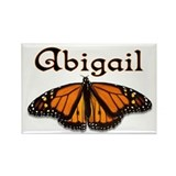 """Abigail Monarch Butterfly"" Rectangle Magnet"