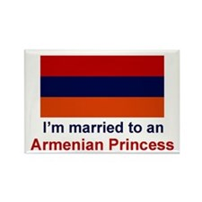 Married To Armenian Princess Rectangle Magnet