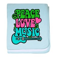 Peace-Love-Music baby blanket