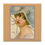 Flapper - Marian Tile Coaster