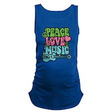 Peace-Love-Music Maternity Tank Top