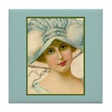 Flapper - Cecily Tile Coaster