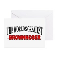 """The World's Greatest Brownnoser"" Greeting Cards ("