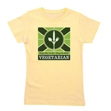 Custom Vegetarian Flag Girl's Tee