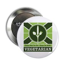 "Custom Vegetarian Flag 2.25"" Button (100 pack)"