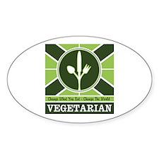 Custom Vegetarian Flag Decal