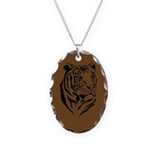 African Tiger Oval Necklace