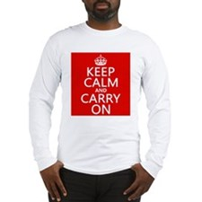 Keep Calm and Carry On Long Sleeve T-Shirt
